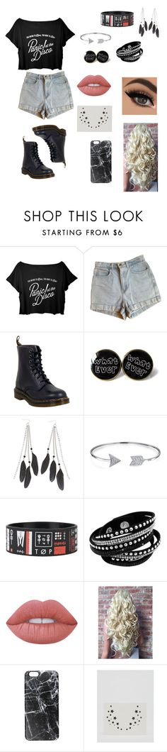 """Untitled #52"" by paigevjacobs on Polyvore featuring American Apparel, Dr. Martens, Charlotte Russe, Bling Jewelry, Lime Crime, Casetify and Johnny Loves Rosie"