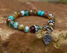 Autumn boho sugar skull bracelet  'Dia de Los by Mollymoojewels
