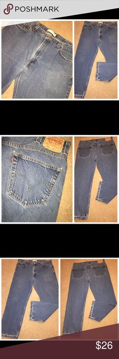 LEVI's 505 Regular Fit Denim Blue Jeans Sz 40x30 LEVI's 505 Regular Fit Denim Blue Jeans Sz 40x30. please see pictures for signs of distress/character!  The jeans measure 40 inches in the waist and 30 inches on the inseam. They were hemmed at some point - but are no longer!  They do show some signs of distress at the hemline. Levi's Jeans Relaxed