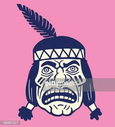 Vector Art : Portrait of a Native American - headband only (I do not endorse the negative portrayal depicted in the imagery)