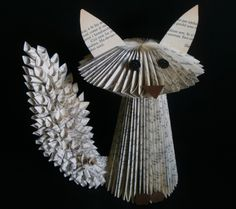 Folded book Fox        paper fox tail experiment        different types of paper tails