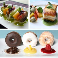 """New Wedding Menu: For a summer bride, works for both formal & informal weddings. first course caprese salad includes heirloom tomatoes, buffalo mozzarella, and red amaranth—a fuchsia-hued green with mild beet-like flavor. main course, """"halibut is a delicious light, meaty fish for summer, one of the most popular, & reasonable for chefs to cook 100 or more."""" Served on bed of sautéed bok choy, seasoned with sea salt, & a little pepper, seared to caramelize the outside; veg accompany…"""