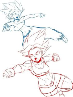 Caulifla and Kale! Ball Drawing, Drawing Poses, Dragon Ball Gt, Fanart, Dbz Drawings, Character Art, Character Design, Dragon Girl, Dragon Images