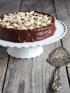 Julia Child's Chocolate Almond Cake, rich and decadent! completelydelicious.com
