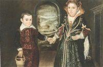 Ritratto di due bimbi by Girolamo Forni