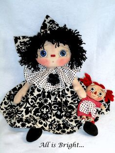 Raggedy Doll  Aubrey and Her Raggedy Ann ♡ by Allisbright on Etsy