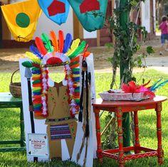 fiesta de cumpleaños indios y vaqueros - Buscar con Google Indian Birthday Parties, Cowboy Birthday Party, Baby Girl Birthday, Indian Theme, Indian Party, Diy Costumes For Boys, Wild West Party, Forest Party, Western Parties