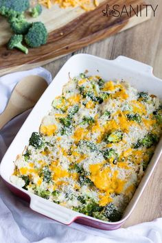 This healthy broccoli chicken casserole recipe is a simple dinner you can whip up in 30 minutes!
