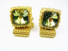Stunning Mesh Wrap Cufflinks DANTE goldtone by unclesteampunk