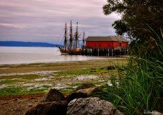 Lady Washington at Coupeville Pier Western Washington, Oregon Washington, Oak Harbor, Evergreen State, Whidbey Island, March 7, Olympic Peninsula, Tall Ships, Seattle Seahawks