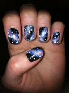 Space/Galaxy Nails