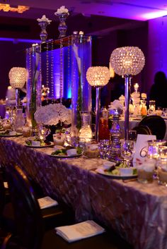#wedding reception; #tall centerpiece #unique centerpiece
