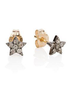 Diamond Set Star Stud Earrings
