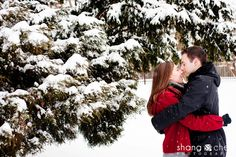 Jennifer and JP, Engaged! | A Chicago Engagement Session in the Snow