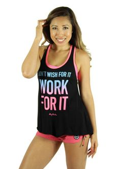 Work For It Flare Tank | Blogilates – FitLyfe Clothing