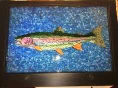 Rainbow Trout stained glass mosaic courtesy of Kickin' Glass Kansas.