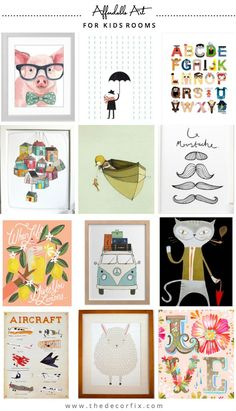 12 places to find affordable art for Kids' Rooms