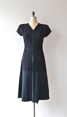 Blackjack dress 1940s black vintage dress 40s by DearGolden