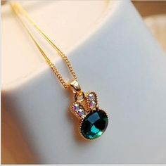 What you get is what you see  Only $ 1.25 &FREE Shipping Worldwide  Get it here --->http://www.honestgem.com/product/korea-imitation-gemstone-cute-bunny-pendant-necklace/ //   #honestgem #jewelry