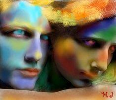 Arts numériques, Peinture numérique, Autre, Photoshop, Art déco, Art figuratif, Classicisme, Peinture contemporaine, Portraiture, Réalisme, Papier, Amour / Romance, Anges, Couleurs, Femmes, Hommes, Lumière, Portraits, Couple, Amour, Romantisme, Couleur, Moderne, Peinture moderne, Romance, Corps, Nus, Homme, Femme, Coloré, Love, Modern