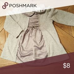 Adorable cotton and silk top Your little one will look beautiful in this top,  pair leggings and dress shoes and you're ready for adorableness! It does have slight wear on the preal closure buttons on the back. Shirts & Tops Blouses