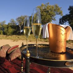 Romantic sundowners at Beyond Dulini Lodge in #SouthAfrica #Africa