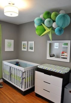 cool nursery. grey. for-the-home