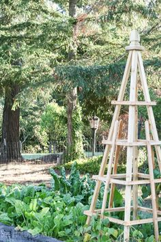 DIY French Tuteurs for the Garden