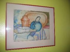 Vintage 1920's Original Still Life Table Setting Watercolor Painting Signed & Dated  by Antiquescove, $100.00