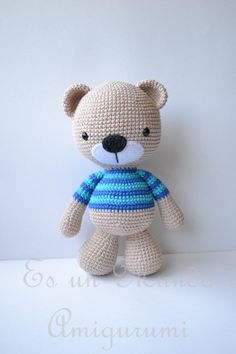 It is a Amigurumi World: Free Pattern ... Polera Bear with Stripe