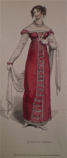 January 1814 Evening Dress