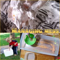 Let's Get -Less- Messy! 6 Tips for Cleaning Up and Containing Messy Sensory Activities