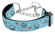Mirage Pet Dog Cats Indoor Outdoor Training And Behavior Aids Accessories Cupcakes Nylon Ribbon Collar Martingale Medium Baby Blue Dog Training and Behavior Aids - http://amzn.to/2i5coNL