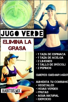 Jugo verde: ¡Elimina grasa!