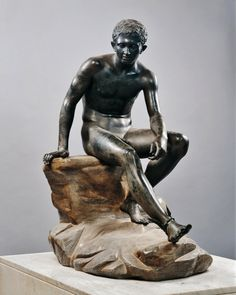 The Seated Hermes. 1st.century BC.Villa of the Papyri....