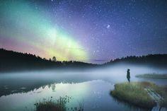 Breathtaking Photos of the Arctic, Lapland Aurora Borealis, Photoshop, Light Images, Dark Skies, Nymph, Stargazing, Landscape Photos, Night Skies, Arctic