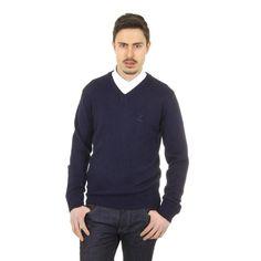Blue L Versace 19.69 Abbigliamento Sportivo Milano mens V neck sweater 9803 SCOLLO V BLU NAVY