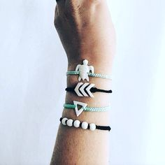These geometric styles combined with the new Sea Turtle bracelet is such a creative combo! Get yours now!