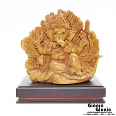 This Ginnie & Ginnie Exclusive Ganesha on leaf is a product from our Statue & Sculptures Collection. It is made of Fiber Polyresin and it got Natural Finish finish on it. Its approx LxWxH is 5x3.5x4.5 inches. It is of approx 520 grams. Unique Code of this product is M400471.05