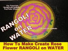 "YouTube how to create make rangoli art creation above water. Rose flower rangoli on water tutorials. Diwali dipawali festival special. Search ""Art&Craft byNidhi"" YouTube Channel for more Creative Tutorials. #art #craft #hobby #artist #rangoli #DIY #creative #flower #kids #school #project #bestfromwaste #innovative #beautiful #drawing #painting #easy #unique #origami #india #london #paris #canada #bombay #ahmedabad #diwali #dipawali #rangoli"