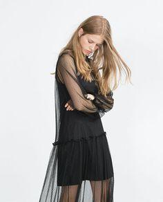 Imagem 1 de VESTIDO PONTEADO da Zara