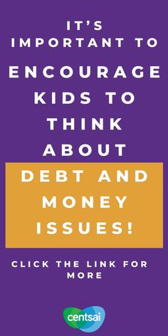 You can set your children on the right financial path by talking about debt and money management now. Here's how. #Teachers #Finance #PersonalFinance #FinancialEducation #CentSai #financialliteracyforkids #financialliteracy #financialeducation #kidsandmoney #financialfreedom #financialindependence #debtfreecommunity #personalfinance #debtfreejourney #moneymanagement Make More Money, Extra Money, Money Tips, Money Saving Tips, Quick Loans, Thing 1, Minimalist Lifestyle, Career Change, Financial Literacy