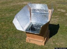 Making a solar cooker, great way to teach about renewable energy. Forever Green Girl Scouts:)