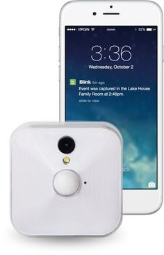 Blink. The ultra-affordable, totally wire-free smart HD home monitoring and alert system. One-camera $79