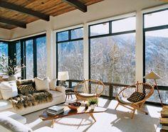 amazing winter home, Aerin Lauder's Aspen ski house