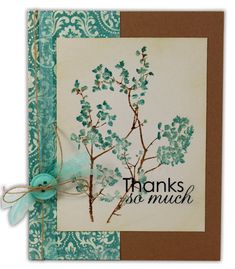 Thanks So Much Card by @Crafts Direct Click through link for supply list and project instructions.
