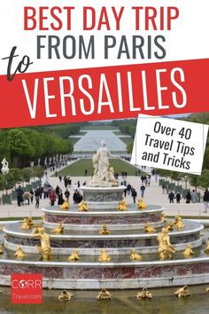 Get the best day trip to Versailles from Paris by train travel tips and tricks so you know when and how to beat the crowds in your #Paris over 40 travel and solo travel. By @CORRTravel #CORRTravel Over 40 Travel | Travel Tips and Tricks | Travel Planning | France Travel Guide | Solo Travel Tips | Travel Guides | Solo Travel Destinations | International Travel Tips | Retirement Travel Ideas Paris Travel Tips, Solo Travel Tips, Europe Travel Guide, France Travel, Travel Destinations, Travel Ideas, Budget Travel, Day Trip From Paris, International Travel Tips