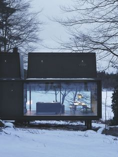 Vipp shelter in the snow