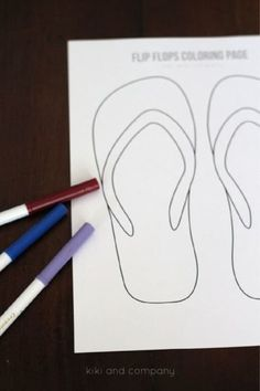 Free Flip Flops Coloring Page - fun kids activity for summer!
