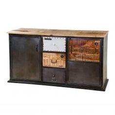 Dit Eleonora dressoir is gemaakt van acaciahout en metaal